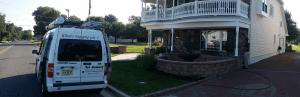 TCPC van outside house for treatment