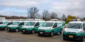 fleet of tri county pest control vans